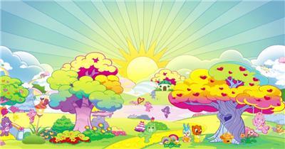 D217-3 彩虹 太阳公公卡通素材