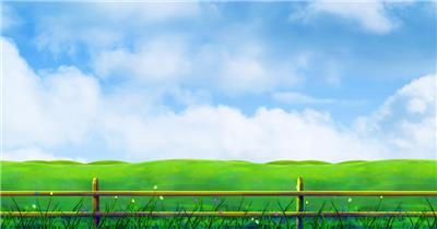 D228-6 卡通风景 植物