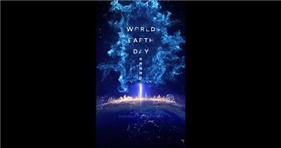 科技蓝世界地球日小视频