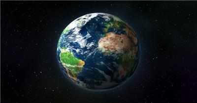 动感 彩色 光线 立体 地球