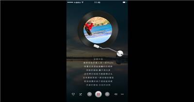 音乐播放器微信小视频AE模板