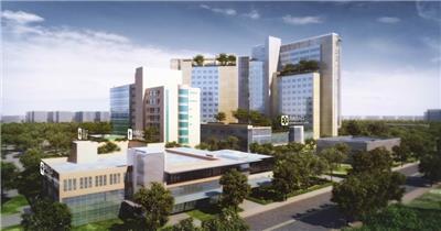 医院大楼综合楼苏州高新区人民医院医疗机构三维建筑漫游动画3d动画地产动画