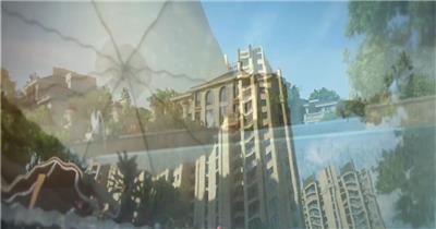 三维地产动画商务商业科技素材地产动画三维建筑建筑动画地产商业圈配套设施玻璃幕墙办公大楼办公环境cbd商业中心城市中心大厦商厦商务大楼三维动画城市漫游 (2)