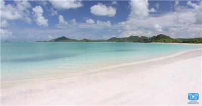 [4K] 美丽的海边沙滩 4K片源 超高清实拍视频素材 自然风景山水花草树木瀑布超清素材