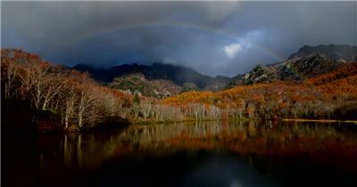 [4K] 晩秋湖面 4K片源 超高清实拍视频素材 自然风景山水花草树木瀑布超清素材