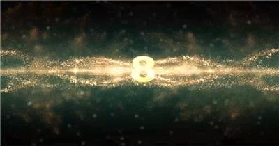倒计时 LED背景 AE倒计时 震撼倒计时 黄金光束 黄金粒子倒计时