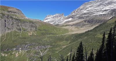 [4K] 雪山近拍1 4K片源 超高清实拍视频素材 自然风景山水花草树木瀑布超清素材