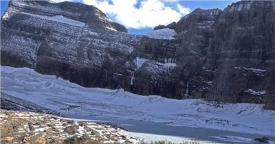[4K] 雪山近拍2 4K片源 超高清实拍视频素材 自然风景山水花草树木瀑布超清素材