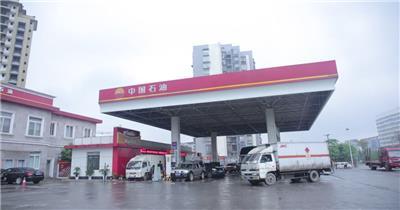 中国石油加油站车流视频素材加速变延时