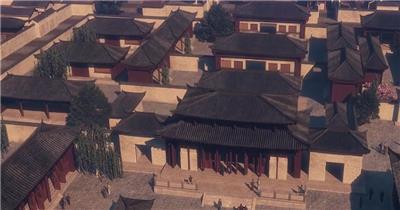 三维建筑动画中国历史古代建筑群中国风晚会舞台背景LED片头视频素材 三维 建筑 动画 中国 历史 古代 建筑群