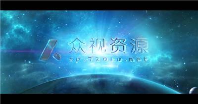 震撼宇宙超光速引擎电影大片开场标题特效AE模板