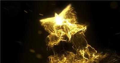 金色粒子凤凰飞舞开场ae模板