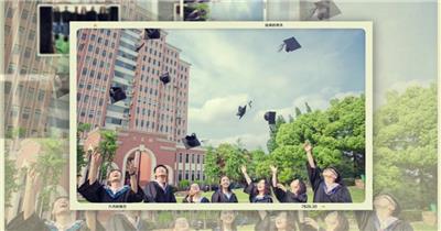 毕业季相册展示浪漫切换效果AE模板