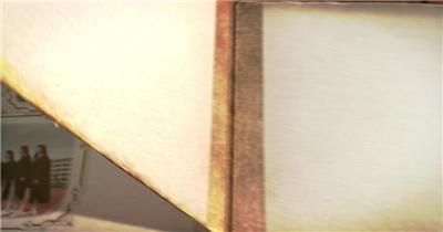 同学会毕业季复古婚翻页相册AE模板