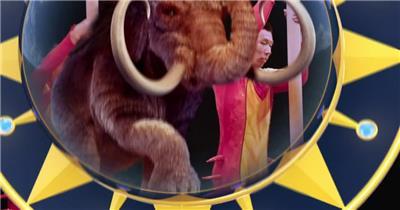 马戏团节目表演时尚惊险特技秀精彩欢乐小丑高清视频实拍