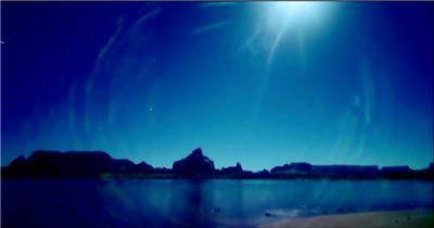 太阳升起4湖边高山云层星空城市乡村梯田日出日落风景高清实拍视频素材