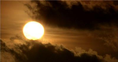 太阳01湖边高山云层星空城市乡村梯田日出日落风景高清实拍视频素材