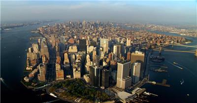 中国上海广州城市地标建筑高端办公楼夜景航拍宣传片高清视频素材现代城市16