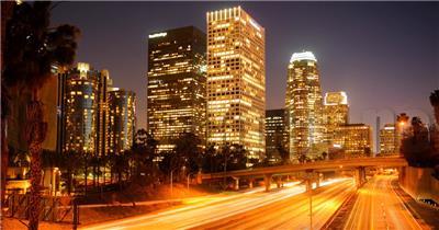 中国上海广州城市地标建筑高端办公楼夜景航拍宣传片高清视频素材城市夜景05