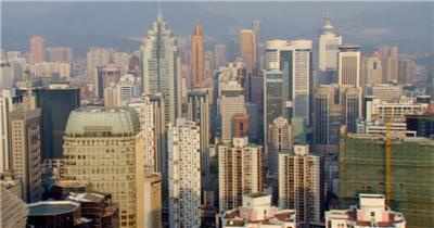 中国上海广州城市地标建筑高端办公楼夜景航拍宣传片高清视频素材现代城市13