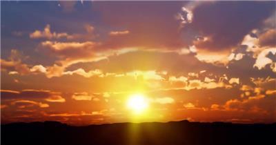 日出日落白云实拍湖边高山云层星空城市乡村梯田日出日落风景高清实拍视频素材