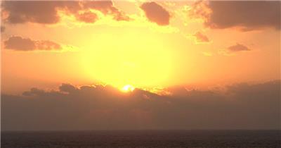 日出06(1)湖边高山云层星空城市乡村梯田日出日落风景高清实拍视频素材