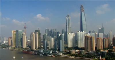 中国上海广州城市地标建筑高端办公楼夜景航拍宣传片高清视频素材现代城市15