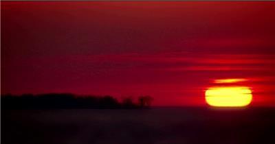 太阳升起2湖边高山云层星空城市乡村梯田日出日落风景高清实拍视频素材