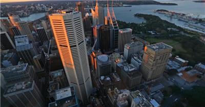 中国上海广州城市地标建筑高端办公楼夜景航拍宣传片高清视频素材现代城市30