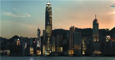 中国上海广州城市地标建筑高端办公楼夜景航拍宣传片高清视频素材城市夜景16