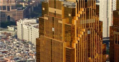 中国上海广州城市地标建筑高端办公楼夜景航拍宣传片高清视频素材现代城市11