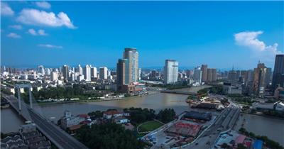 中国上海广州城市地标建筑高端办公楼夜景航拍宣传片高清视频素材现代城市02