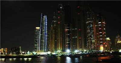 中国上海广州城市地标建筑高端办公楼夜景航拍宣传片高清视频素材城市夜景10