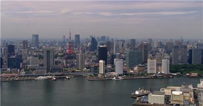 中国上海广州城市地标建筑高端办公楼夜景航拍宣传片高清视频素材现代城市23