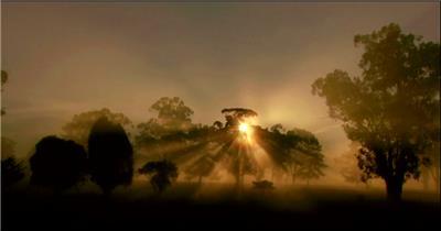 太阳光辉湖边高山云层星空城市乡村梯田日出日落风景高清实拍视频素材