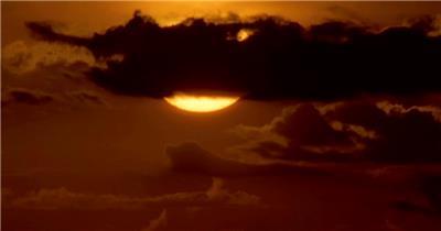 太阳03(穿过云层)湖边高山云层星空城市乡村梯田日出日落风景高清实拍视频素材