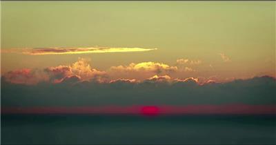 太阳升起3湖边高山云层星空城市乡村梯田日出日落风景高清实拍视频素材
