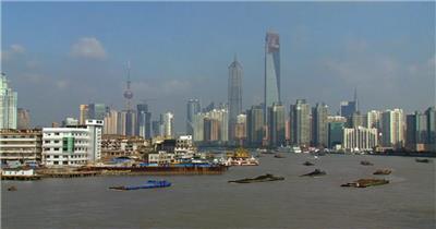 中国上海广州城市地标建筑高端办公楼夜景航拍宣传片高清视频素材现代城市14