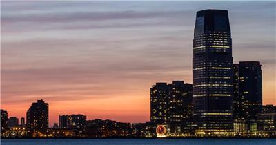 中国上海广州城市地标建筑高端办公楼夜景航拍宣传片高清视频素材城市夜景19