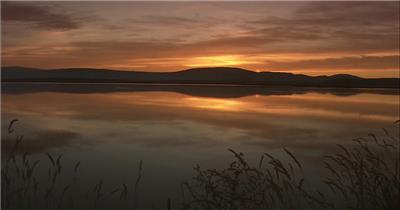 最美日出日落 (4)湖边高山云层星空城市乡村梯田日出日落风景高清实拍视频素材