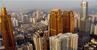 中国上海广州城市地标建筑高端办公楼夜景航拍宣传片高清视频素材现代城市10