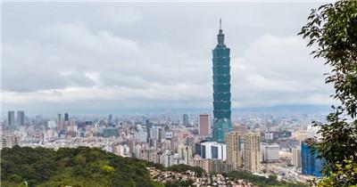 中国上海广州城市地标建筑高端办公楼夜景航拍宣传片高清视频素材现代城市26