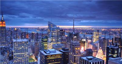 中国上海广州城市地标建筑高端办公楼夜景航拍宣传片高清视频素材城市夜景01