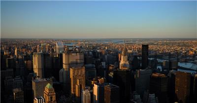 中国上海广州城市地标建筑高端办公楼夜景航拍宣传片高清视频素材现代城市01