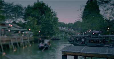 古村古镇、江南水乡、雨巷雨景、房檐滴水 实拍视频素材下载