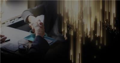 金色图文颁奖年会晚会AE模板
