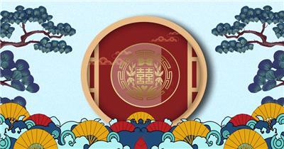 中国风喜庆舞台婚礼