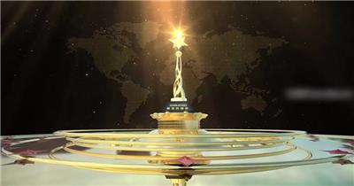 大气年会奖杯展示颁奖视频AE模板
