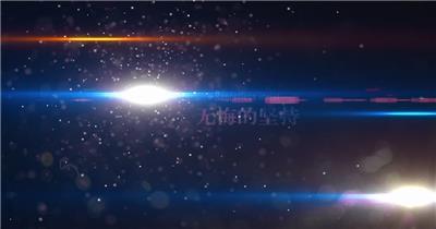 梦幻公司年会粒子庆典视频AE模板