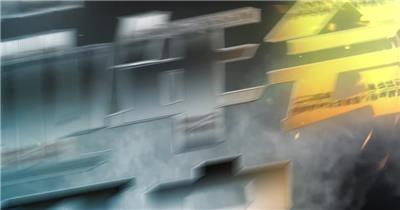 竞速感企业年会片头视频AE模板